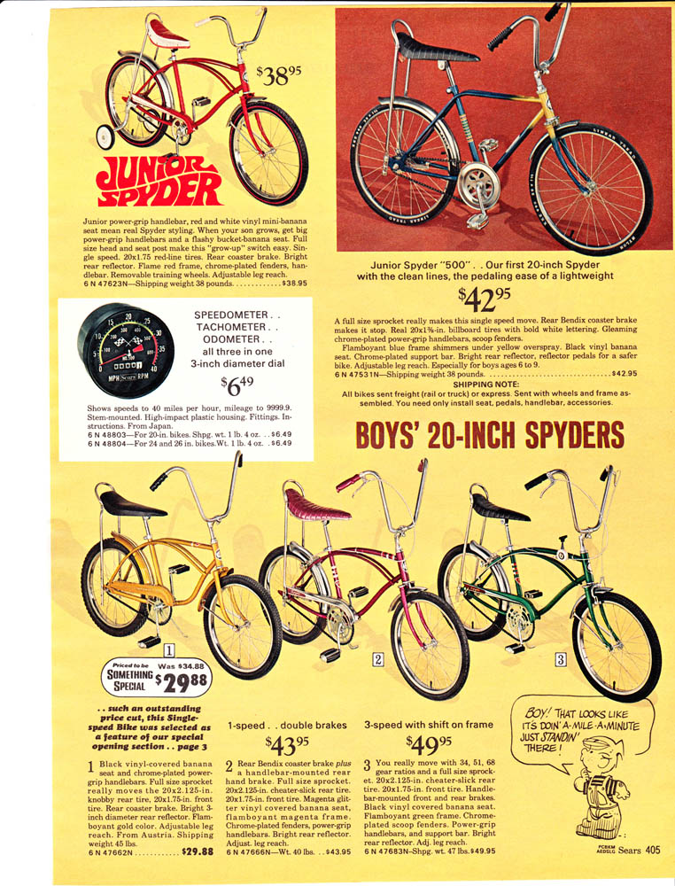 Sears Spyder 5 Speed - Need year and catalog pic - BMXmuseum