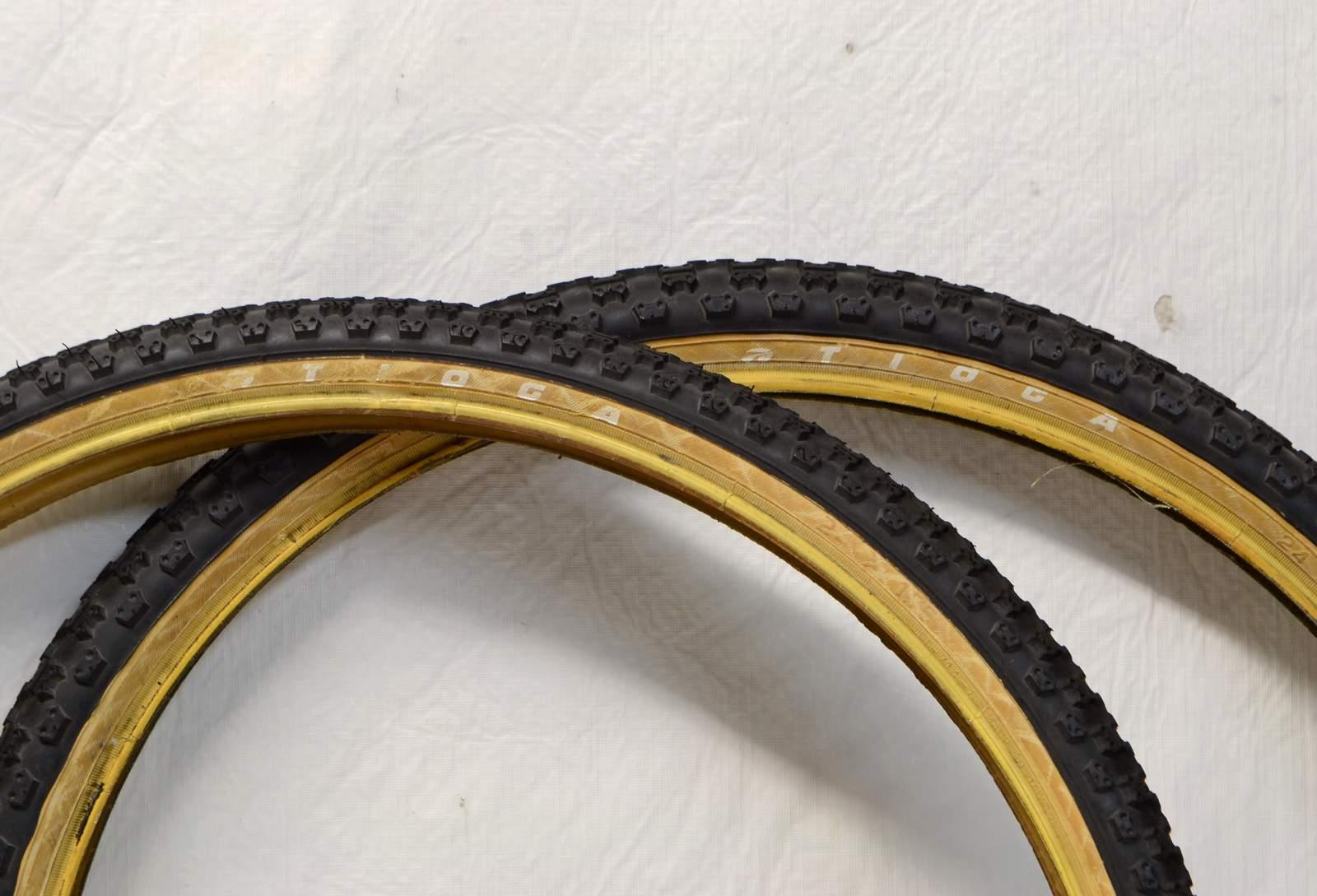 """Two 24x1.75/"""" BMX BLACK Comp 3 design tires /& TUBES"""