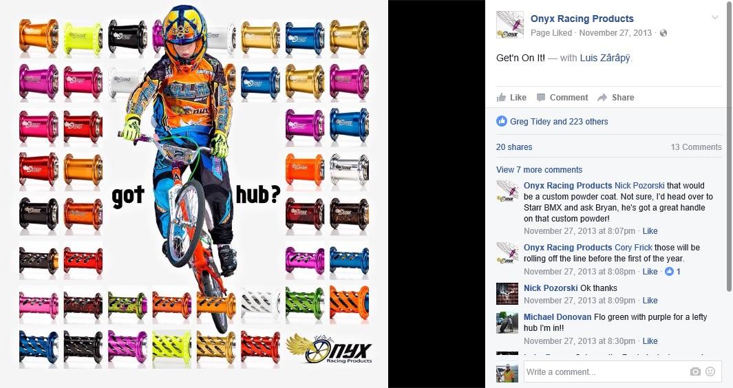 Onyx - the BEST new-school race hubs - BMXmuseum com Forums